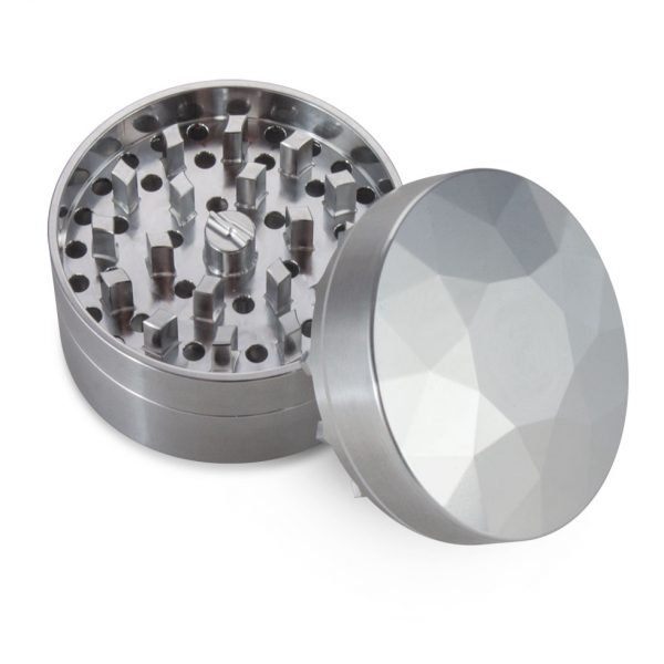 The Brilliant Cut Grinder - Fine - Top view - Silver