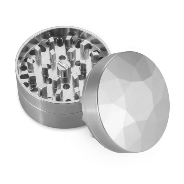 The Brilliant Cut Grinder - Medium - Top view - Silver