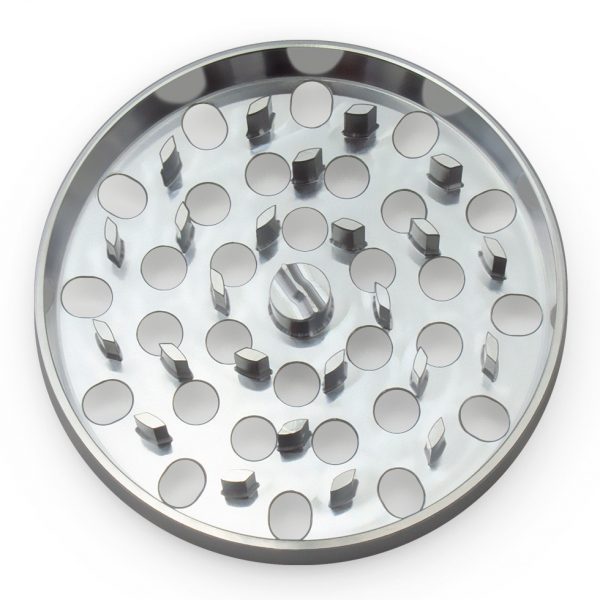 The Large Brilliant Cut Grinder - Coarse Plate - Silver