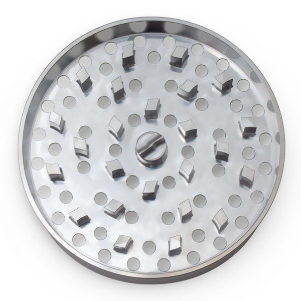 The Large Brilliant Cut Grinder - Fine Plate - Silver