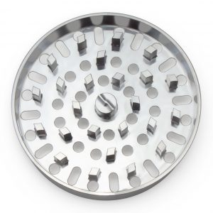 The Large Brilliant Cut Grinder - Medium Plate - Silver