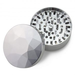 The Large Brilliant Cut Grinder - Medium - Top view - Silver